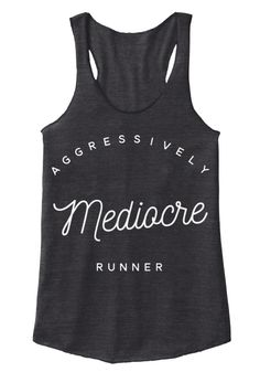 Aggressively Mediocre Runner Eco Black Vrouwen Tank Top Front