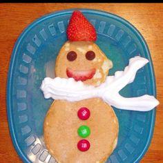 Pancake snowman