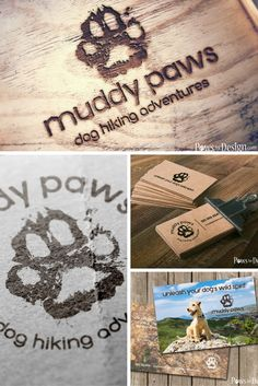This rough and rugged logo, available in two layouts, is perfect for dog walkers, dog hikers, dog trainers or creators of rugged pet products. Check out the matching business cards here: http://etsy.me/2bhFUAK