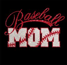 Women's Glitter Baseball Mom Shirt by RedheadedMonkeys on Etsy, $26.50