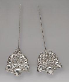 Pair of Garment Pins (Tupus) [Bolivian] Byzantine Jewelry, Renaissance Jewelry, Metropolitan Museum, Art Education, South America, Shawl Pin, Art History, Drop Earrings, Pendant