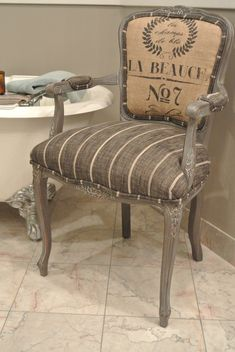 Funky Furniture, Repurposed Furniture, Furniture Makeover, Painted Furniture, Home Furniture, Chair Makeover, Antique Chairs, Vintage Chairs, French Chairs