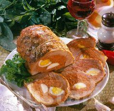 Lajos Mari konyhája - Kalocsai töltött sertéscomb Hungarian Recipes, Hungarian Food, Cold Dishes, Meat Recipes, Baked Potato, Pork, Fish, Dinner, Ethnic Recipes