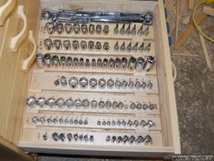 Socket Storage Drawer using wood dowels