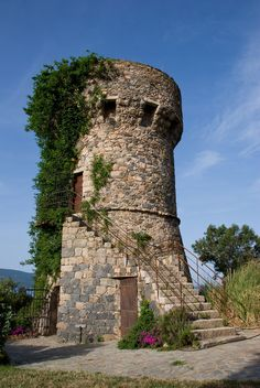 16th Century Watchtower, converted to a home, Propriano, Corsica    photo by victoryismine