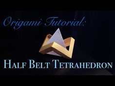 Half Belt Tetrahedron (Designed by: Tomoko Fuse) My Paper: Pear Luster Crumpled Paper*2 pieces Bilibili/Youku/AcFun Channel: 高冷的Malinda (https://space.bilibi...