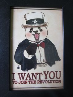 Panda Revolution EXTRA A4 by xiaobaosg on Etsy