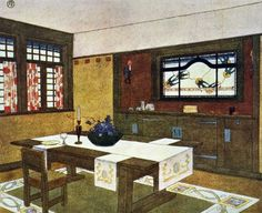 Gustav Stickley: the American Arts & Crafts Movement The abstracted patterns, attenuated lines and the emphasis on squares reveal the influence of Stickley's European contemporaries, including Charles Rennie Mackintosh and Josef Hoffmann