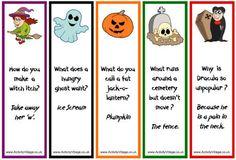 Halloween bookmarks, Halloween jokes