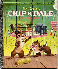Little Golden Book #D38 Chip 'n' Dale at the Zoo 1st Edition 1954 from curleycreekantiques on Ruby Lane