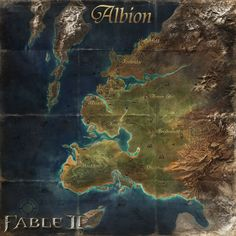 Fable 2, Gaming Posters, Map Icons, Fantasy Landscape, Medieval Fantasy, Cartography, Story Inspiration, Middle Earth, Concept Art