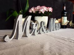 Mr. & Mrs. letters wedding table decoration freestanding by SunFla