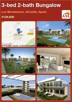 3-bed 2-bath Bungalow in Los Montesinos, Alicante, Spain ►€129,800 #PropertyForSaleInSpain
