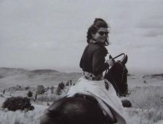 Jacqueline Kennedy in 1966 on Estancia San Miguel, Argentina.