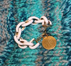 Monogrammed Chain Bracelets * marleylilly.com!! Personalize your own and take your #armparty to the next level! #marleylilly #armcandy #monogram #personalize #musthave
