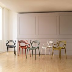 I am drawn to these chairs every time I see them. Not really 'natural materials' but I just really like the pattern of the back Kartell Masters Chair By Philippe Starck | Chairs | Chairs & Stools | Furniture | Heal's