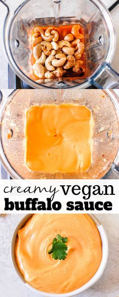 Creamy vegan buffalo sauce recipe is an easy and healthy homemade spread that is. Creamy vegan buffalo sauce recipe is an easy and healthy homemade spread Healthy Vegan Dessert, Cake Vegan, Vegan Foods, Vegan Dishes, Vegan Vegetarian, Vegetarian Recipes, Paleo, Vegan Recipes Easy Healthy, Vegan Cupcakes
