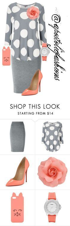 """""""Apostolic Fashions #1318"""" by apostolicfashions on Polyvore featuring Alexander McQueen, Phase Eight, Christian Louboutin, H! by Henry Holland and FOSSIL"""