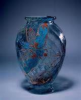 Emile Gallé, Nancy, Blown, Internal Inclusions, Etched and Enameled Glass Vase. Glass Vessel, Glass Ceramic, Ceramic Art, Art Nouveau, Vases Decor, Art Decor, Glas Art, Objet D'art, French Art