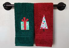 Appliqued towels, a great gift