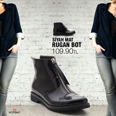 YENİ SEZON! Siyah Mat Rugan Bot Ürün Kodu: 16206 Fiyat: 109.90 TL ☎Sipariş İçin ➡http://www.modsimo.com  ➡whatsapp 0535 260 67 03