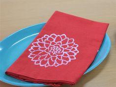 Set of four Cotton Napkins Red