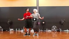 Two professional dancers named Keone. Not really old, but still very good.