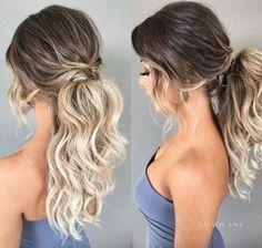 Fancy Ponytail Hairstyles for Medium Hair #hairstylesrecogido