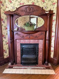Fireplaces, Mantle Decorating, Sweet Home, Victorian, House, Home Decor, Home, Fireplace Set, Fire Places