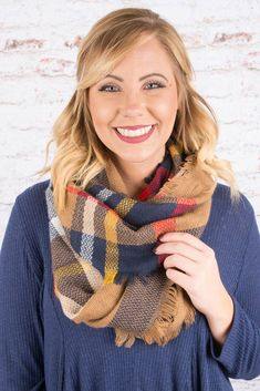 Fall Be There For You Scarf, Navy