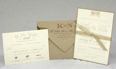 Burlap Vintage Wedding Invitation Suite by AMGDesignCo on Etsy, $3.95