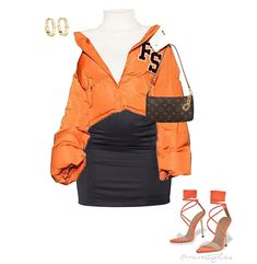 Baddie Outfits Casual, Dope Outfits, Classy Outfits, Pretty Outfits, Stylish Outfits, Fashion Outfits, Orange Dress Outfits, Teenager Outfits, Polyvore Outfits