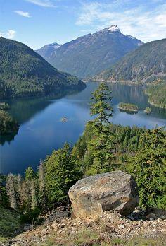 """""""Lake Diablo, Washington"""" by Rhonda R Clements"""