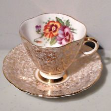 Windsor Gold Chintz Bone China Tea Cup and Saucer