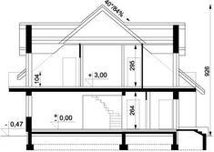 DOM.PL™ - Projekt domu ARD Kasztan 2 paliwo stałe CE - DOM RD1-60 - gotowy koszt budowy Design Case, Window Design, Malaga, My House, Villa, Floor Plans, Flooring, How To Plan, Arquitetura
