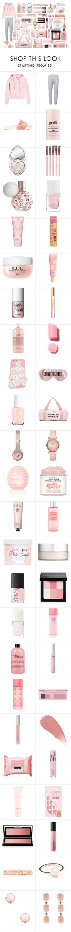 """- Blush Pink"" by goddess-of-magic ❤ liked on Polyvore featuring Vetements, Sacai, Puma, philosophy, Too Faced Cosmetics, Luxie, The Hand & Foot Spa, Tory Burch, Lano and Benefit"