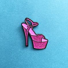 'Glitter Shoe' Pin