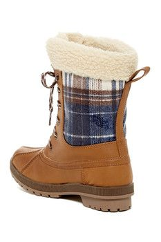 London Fog Swanley Faux Shearling Cold Weather Boot