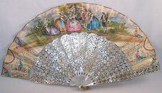 Victorian mother of pearl fan