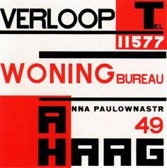 History Dutch Graphic Design    Poster designed by Piet Zwart 1923.