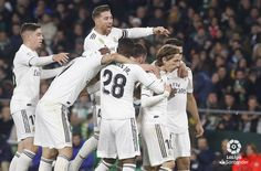 The Real Madrid players celebrating the against Real Betis Real Madrid Players, Celebrities, Celebs, Celebrity, Famous People