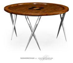 """Cute as a Button"" coffee table #hpmkt #jcfurniture #jonathancharles #Furniture #InteriorDesign #decorex #AlexanderJulianCollection"