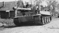 One of the first 3 Tiger`s delivered to battle - Schwere Panzer Abteilung 502 - near Leningrad