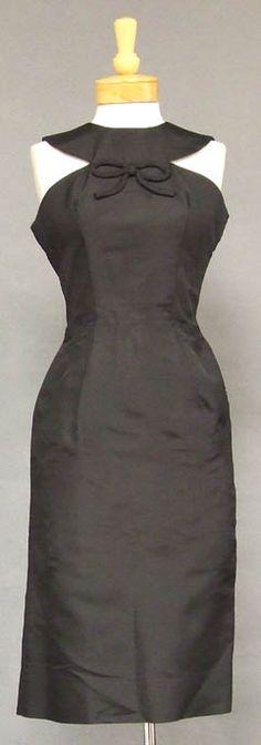 Oleg Cassini silk 1960's cocktail dress - Vintageous
