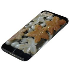 Beautiful Jade ornament with flower design Tough iPhone 6 Plus Case  #jeweled #luxury #option