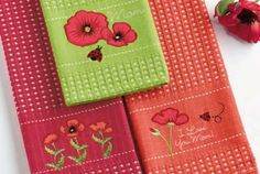 Amazon.com - Poppies for Mommies Kitchen Towels, Set of 3 -