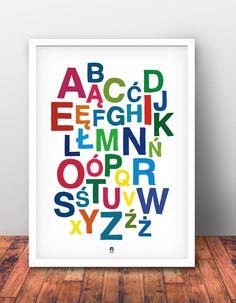 Plakat alfabet od Matka Po Godzinach