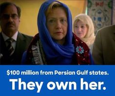 SHE HAS SOLD OUT AMERICA - TO MUSLIM COUNTRIES - WHY?  SO AMERICA CAN BE…