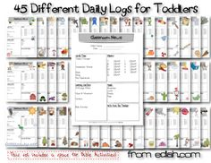 Daily logs for in home daycare, learning centers, etc. For Toddlers. NOW AVAILABLE!