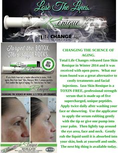 Iaso Renique helps rejuvenate your skin.